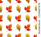 vector seamless pattern with... | Shutterstock .eps vector #1134607676