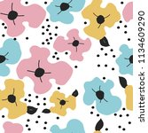 seamless pattern with... | Shutterstock . vector #1134609290