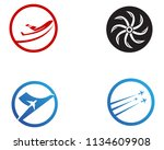 airplane fly logo and symbols...   Shutterstock .eps vector #1134609908