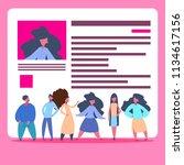 people group over cv resume... | Shutterstock .eps vector #1134617156