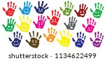 hand palm print of person child ... | Shutterstock .eps vector #1134622499