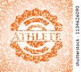 athlete orange mosaic emblem...   Shutterstock .eps vector #1134626090