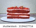 cake with berries | Shutterstock . vector #1134627716