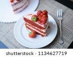 cake with berries | Shutterstock . vector #1134627719