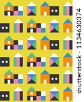 seamless pattern with small... | Shutterstock .eps vector #1134630374
