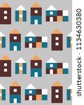 seamless pattern with small... | Shutterstock .eps vector #1134630380