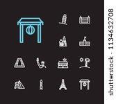 travel icons set  france  egypt ...   Shutterstock . vector #1134632708