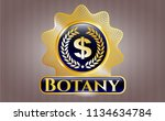 gold badge or emblem with... | Shutterstock .eps vector #1134634784