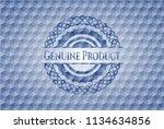 genuine product blue emblem or... | Shutterstock .eps vector #1134634856