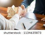 house developers agent or... | Shutterstock . vector #1134635873