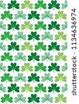 three leaf clover seamless... | Shutterstock .eps vector #1134636974