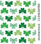 three leaf clover seamless... | Shutterstock .eps vector #1134636980
