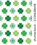four leaf clover seamless... | Shutterstock .eps vector #1134638648