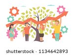 teamwork. vector illustration... | Shutterstock .eps vector #1134642893
