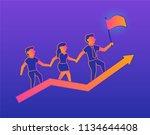 success. vector gradient...   Shutterstock .eps vector #1134644408