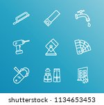 construction icon set and color ...