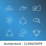 cloud technology icon set and...
