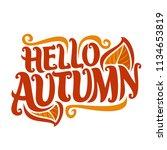 poster for autumn season ... | Shutterstock . vector #1134653819