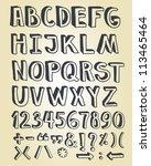 doodle typographic symbols  ... | Shutterstock .eps vector #113465464