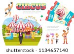 flat circus elements... | Shutterstock .eps vector #1134657140