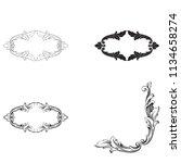 classical baroque vector set of ... | Shutterstock .eps vector #1134658274