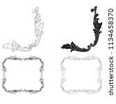 classical baroque vector set of ... | Shutterstock .eps vector #1134658370