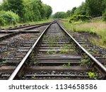 Train Tracks Leading Into The...
