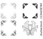 classical baroque vector set of ... | Shutterstock .eps vector #1134658784