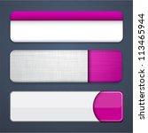 set of blank magenta buttons...   Shutterstock .eps vector #113465944