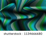 wavy lines with gradient.... | Shutterstock .eps vector #1134666680
