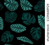 vector tropic seamless pattern. ... | Shutterstock .eps vector #1134668924