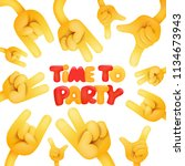 time to party invitation card... | Shutterstock .eps vector #1134673943