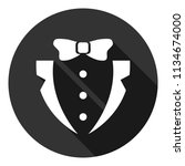 suit and bow icon. gentleman... | Shutterstock .eps vector #1134674000