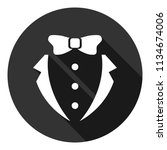 suit and bow icon. gentleman... | Shutterstock .eps vector #1134674006