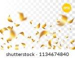 random falling golden glitter...   Shutterstock .eps vector #1134674840