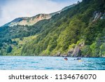 puerto rio tranquilo   aysen  ... | Shutterstock . vector #1134676070