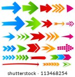 vector arrows collection | Shutterstock .eps vector #113468254