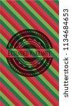 extended warranty christmas... | Shutterstock .eps vector #1134684653
