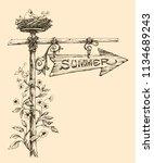 summer holidays announcement....   Shutterstock .eps vector #1134689243