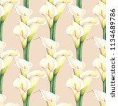 Watercolor White Calla Lilies...