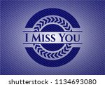 i miss you emblem with jean...   Shutterstock .eps vector #1134693080