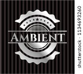 ambient silvery shiny badge | Shutterstock .eps vector #1134693260