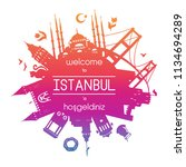 welcome to istanbul. vector... | Shutterstock .eps vector #1134694289