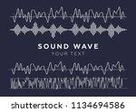 signal wave set. analog signals ... | Shutterstock .eps vector #1134694586