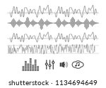 sound waves vector. sound waves ... | Shutterstock .eps vector #1134694649