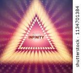 vector infinite triangle... | Shutterstock .eps vector #1134701384
