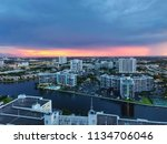 sunset in hollywood city ... | Shutterstock . vector #1134706046