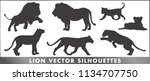 lion vector silhouettes | Shutterstock .eps vector #1134707750