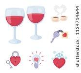 romantic relationship cartoon...   Shutterstock .eps vector #1134714644
