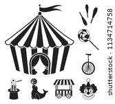 circus and attributes black... | Shutterstock .eps vector #1134714758